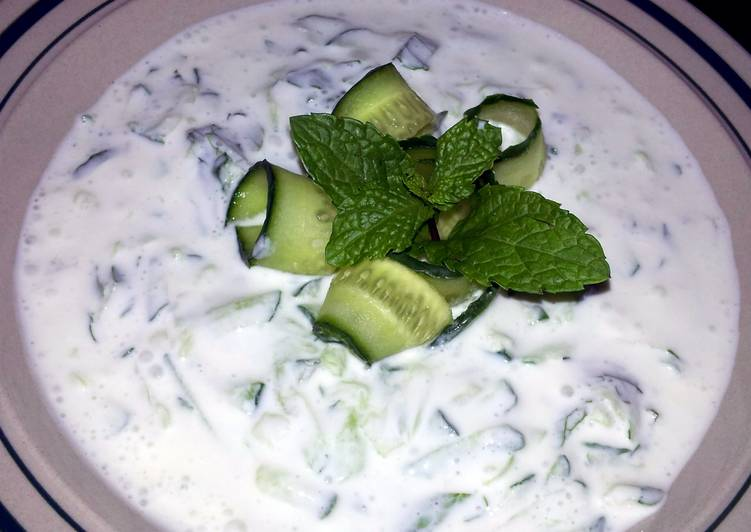 Pam's yugort and cucumber appetizer...