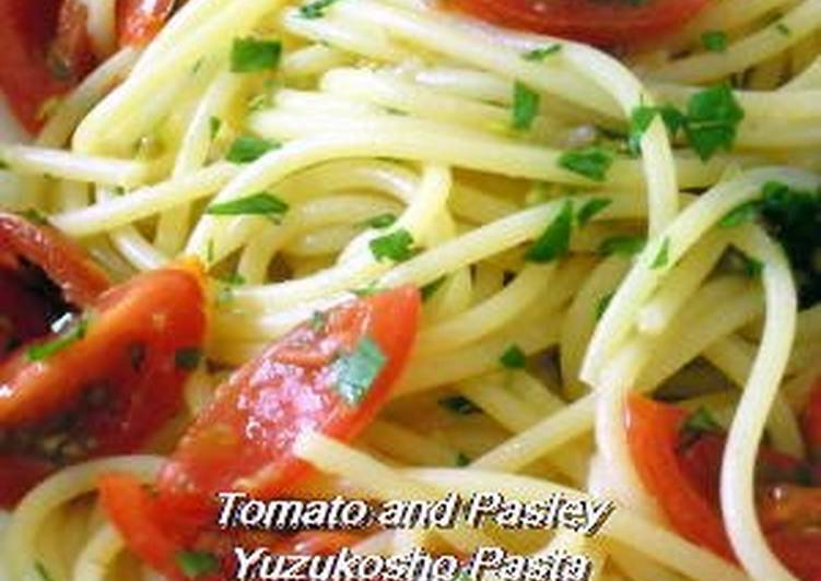 Tomato & Parsley Pasta with Yuzu Pepper - Laurie G Edwards