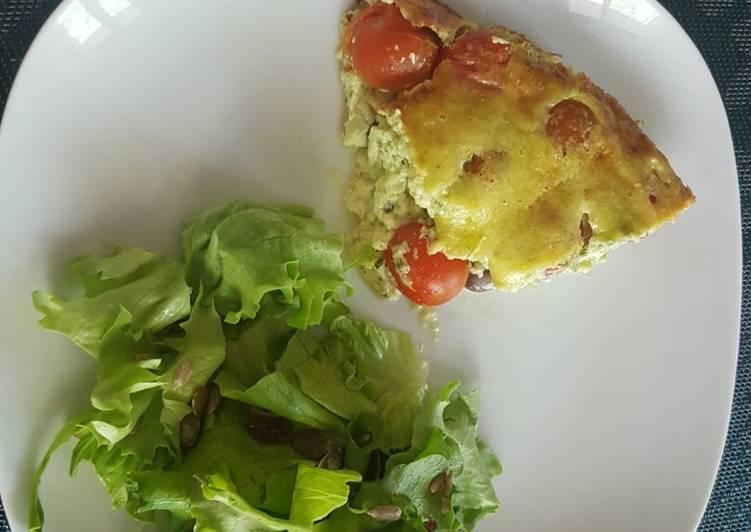 Flan aux tomates cerises