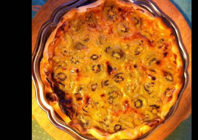 Comment Servir Tarte kiwis orange et ananas