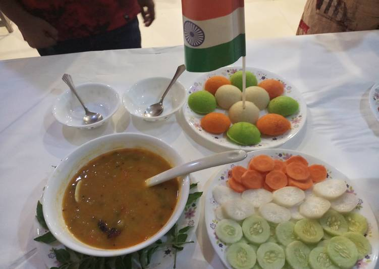Sambar Idli, South Indian dish
