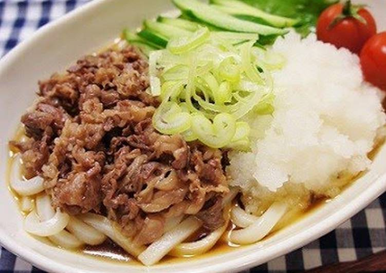 Recipe of Award-winning Udon Noodles with Grated Daikon and Beef