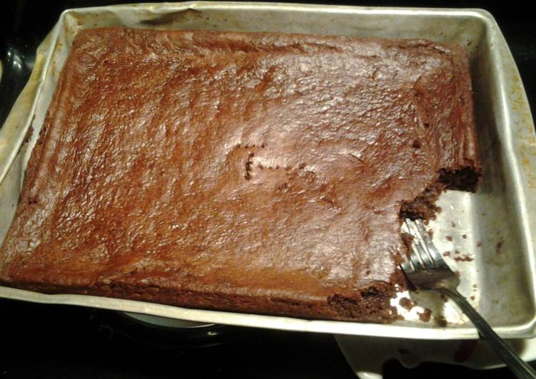 super easy chewy brownies