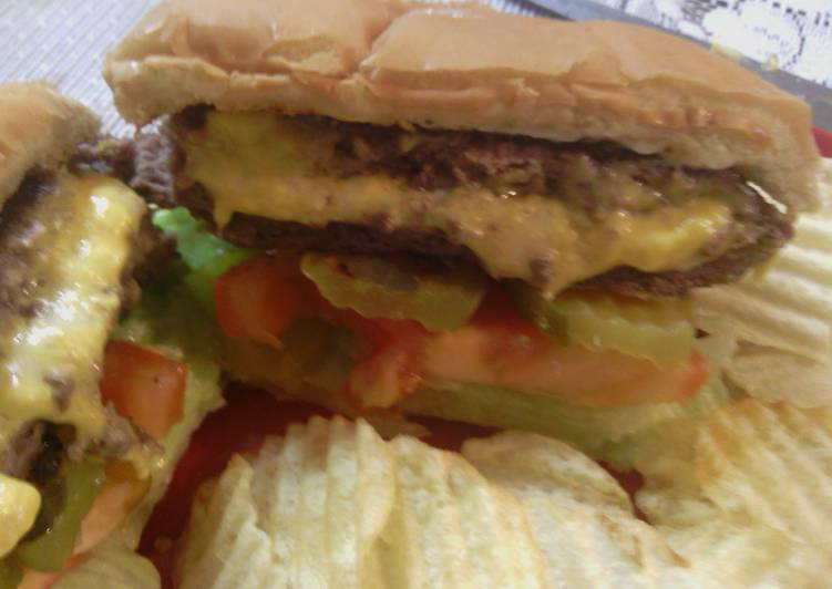 sunshine 's three cheeses stuffed burgers