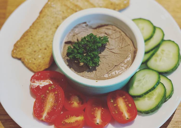 Recipe of Perfect Mom's Chicken Liver Pâté
