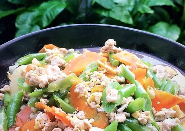 Tumis Buncis Wortel Ayam #sangmpasi