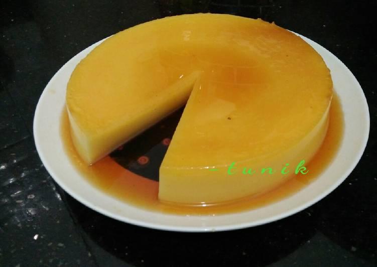 113. Puding Karamel Tanpa Telur