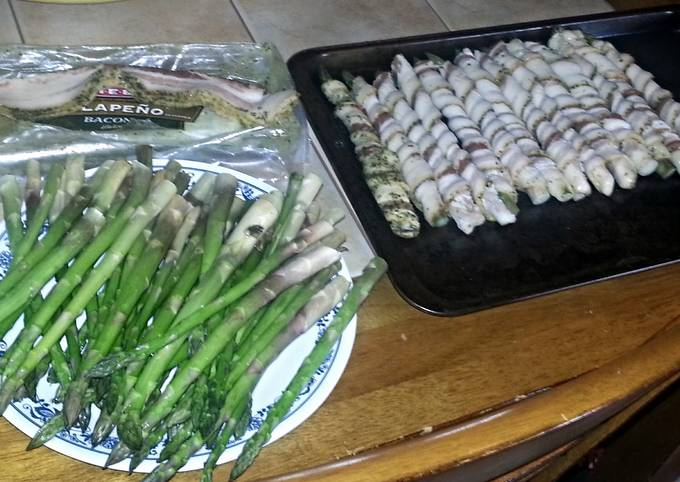 Recipe of Ultimate bacon wrapped asparagus