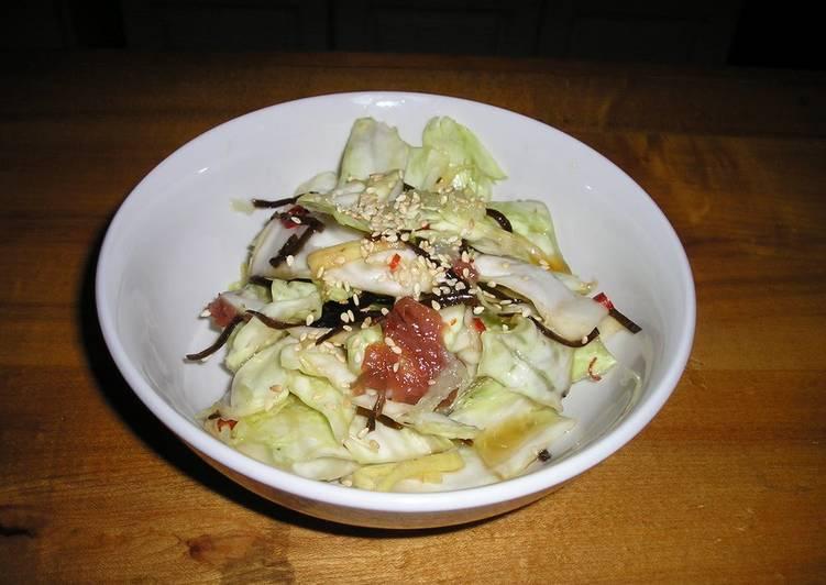 Macrobiotic & Diet-Friendly Lightly Pickled Cabbage