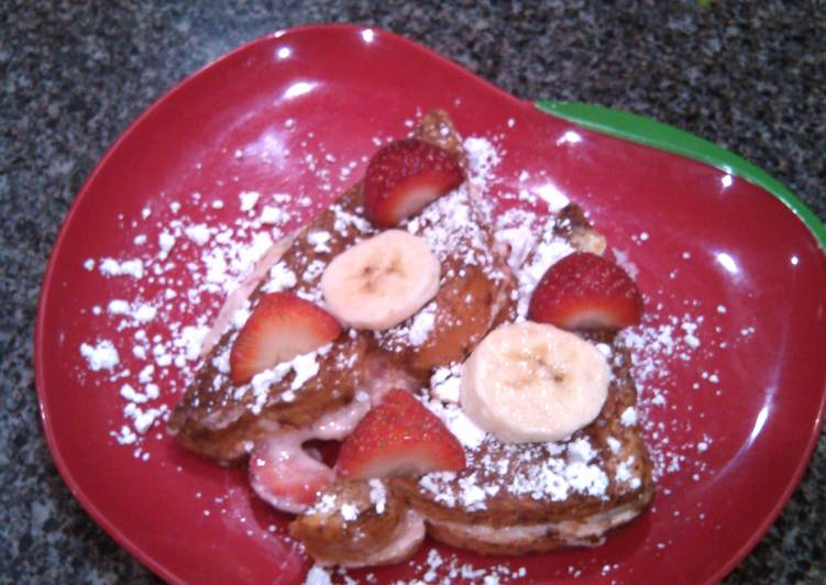 Strawberry Banana Stuffed French Toast