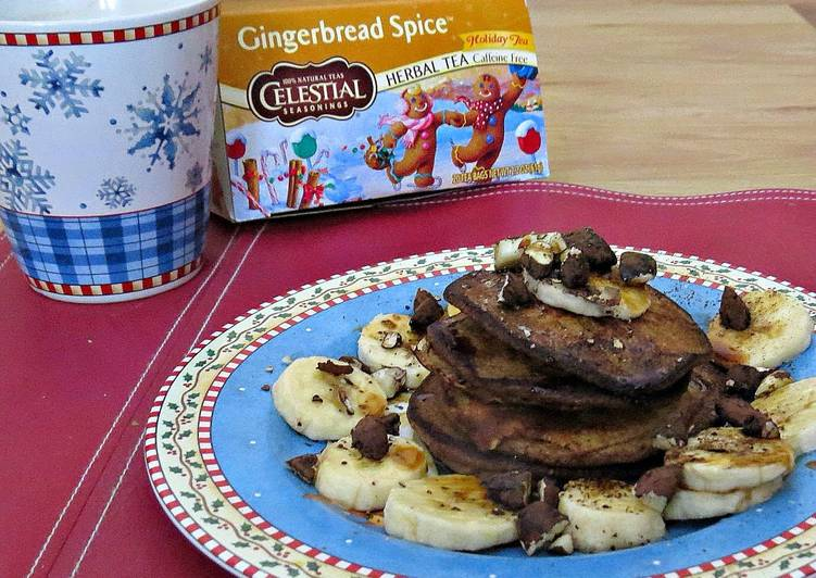 Recipe: Delicious Healthy Gingerbread Spice Pancakes For One