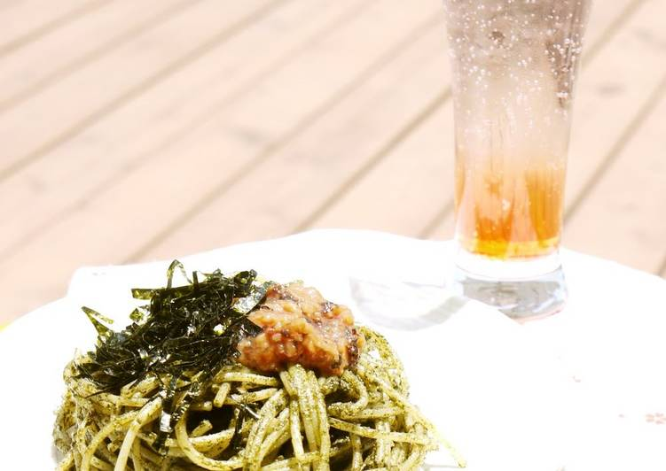 Recipe of Award-winning Ume and Shiso Leaf Genovese Pasta