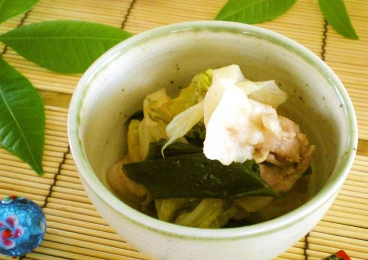 5 Minute How to Make Spring My Grandma's Signature Dish- Steam-Simmered Pork Belly and Chinese Cabbage *