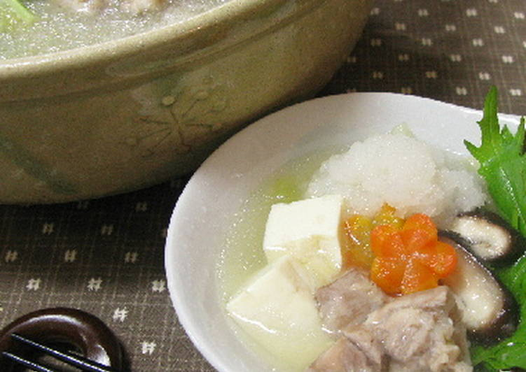 "10 Minute Recipe of Autumn Light Chicken ""Mizore"" (sleet) Hot Pot"