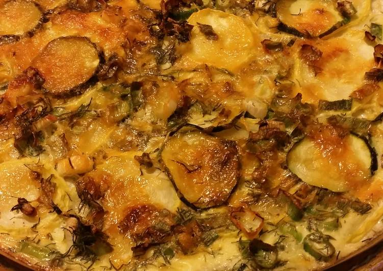 Recipe of Any-night-of-the-week Crustless zucchini quiche