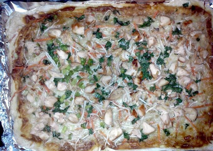 Recipe: Tasty Thai Chicken Pizza (makes two pizzas)