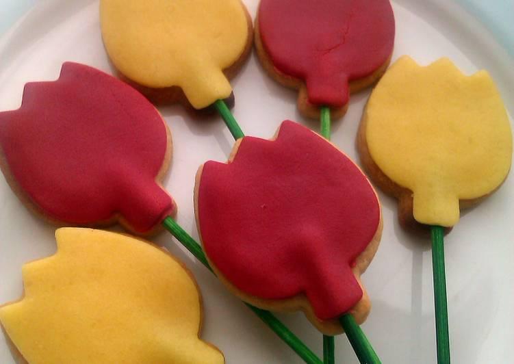 Vickys Easter Tulip Cookie Pops, GF DF EF SF NF
