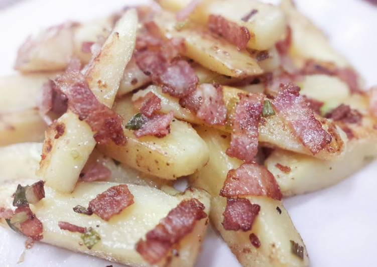 Bacon roasted potato wedges