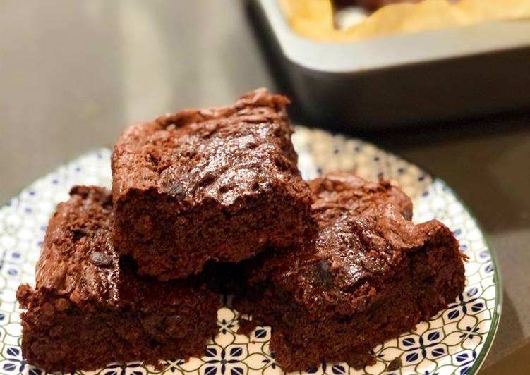 Resep Gooey Chocolate Brownie yang Enak