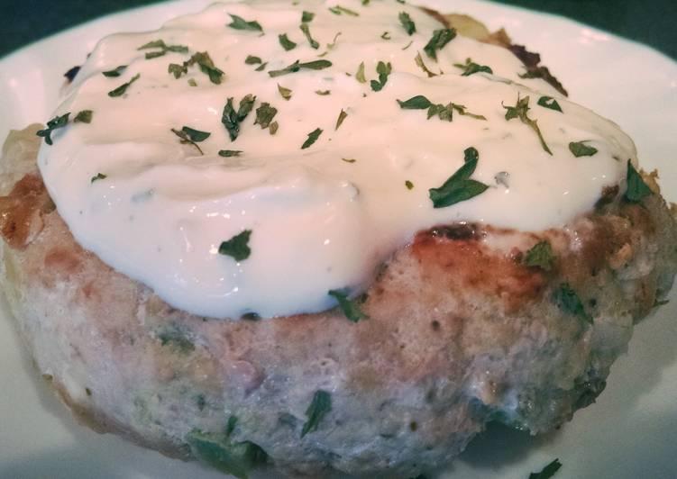 Recipe: Yummy Greek Turkey Burgers with Avocado and a Lemon Parsley Mayo