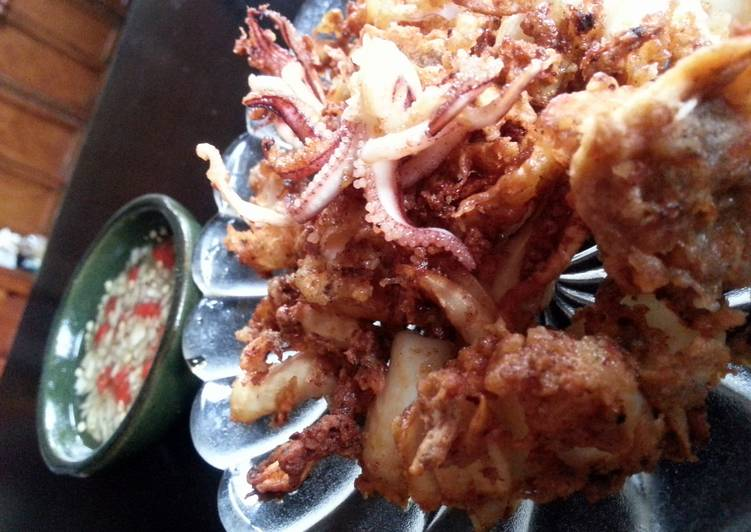 Simple Way to Prepare Ultimate five spiced squid