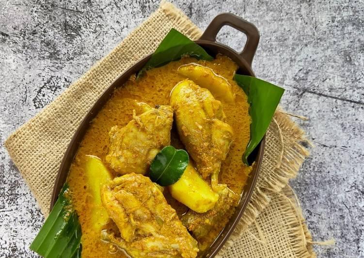 Langkah-Langkah Memasak Gulai Ayam & Kentang, Lezat