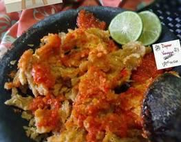 Ayam geprek sambal bledek