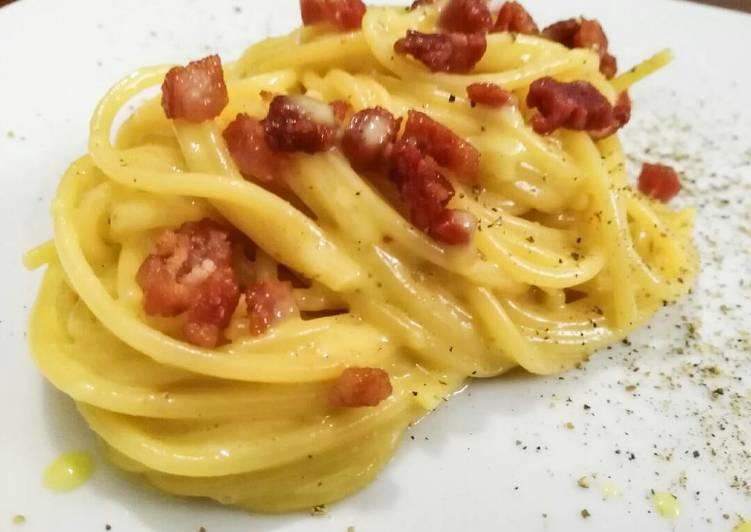 Auténtica carbonara de los mejores chefs italianos
