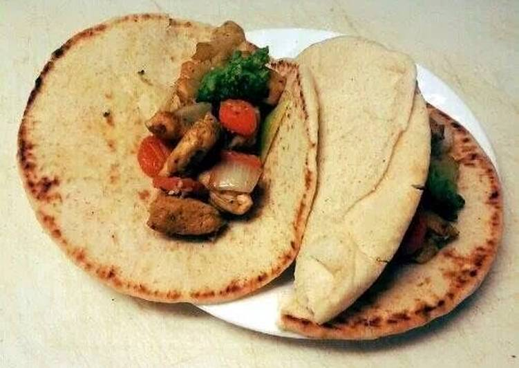Curry Chicken Pitas