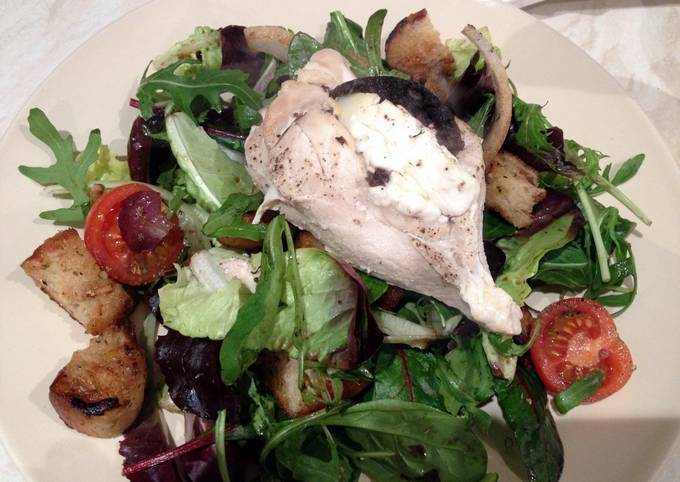 Black Pudding and Goats Cheese Stuffed Chicken Breast