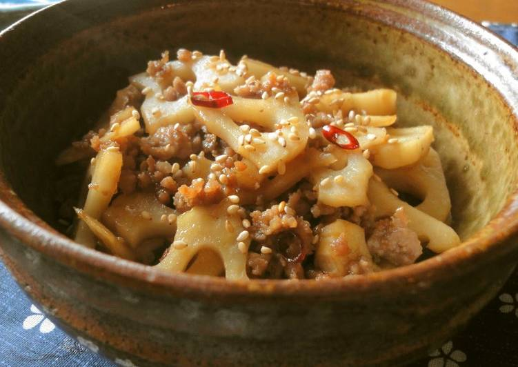 Minced Pork and Lotus Root Stir-fry For One More Dish