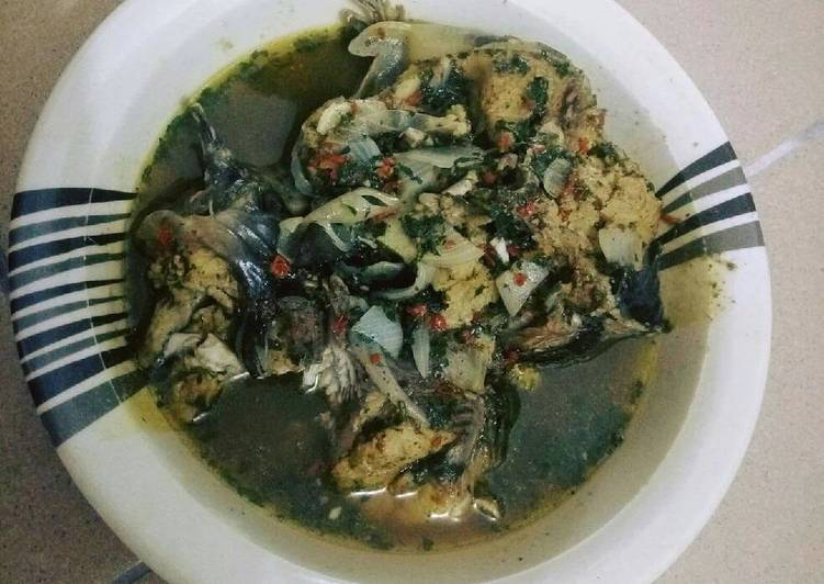 Steps to Prepare Homemade Catfish peppersoup