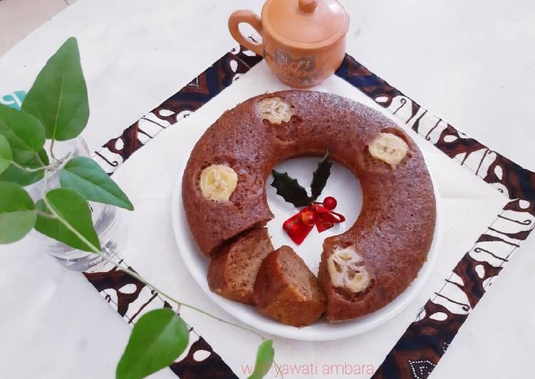 Resep Banana Cake (Bolu Kukus Pisang), Bisa Manjain Lidah
