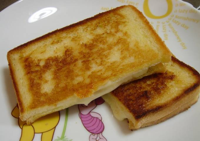 Ham & Cheese Sandwich Made in a Frying Pan - Easy for Breakfast or Lunch
