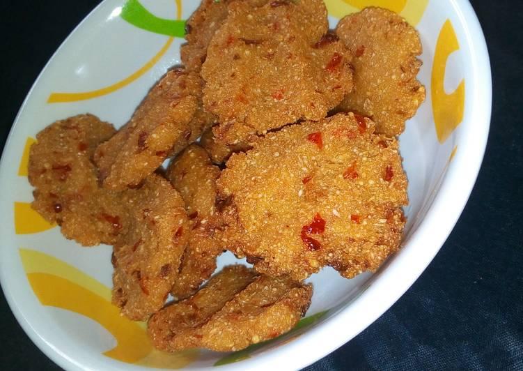 Recipe of Quick Garri Fritters(Garin Rogo)