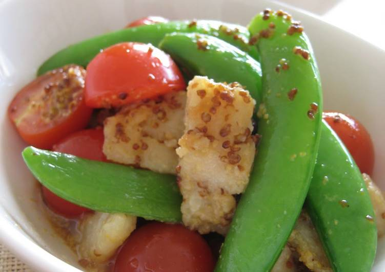 How to Prepare Speedy Cod and Sugar Snap Peas with Mustard Soy Sauce
