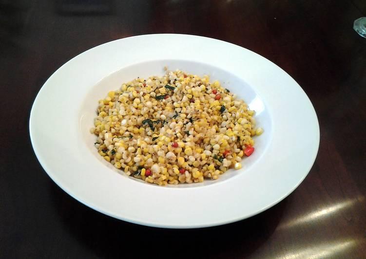 How Start to Make Favorite Sauteed Chili Garlic Corn