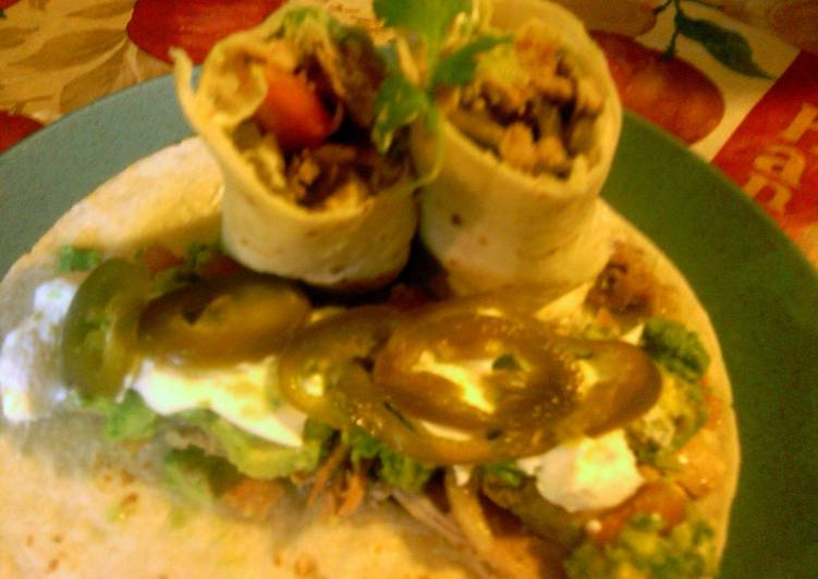 sunshines chicken burritos