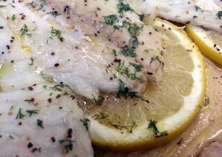 Greek Lemon Baked Tilapia