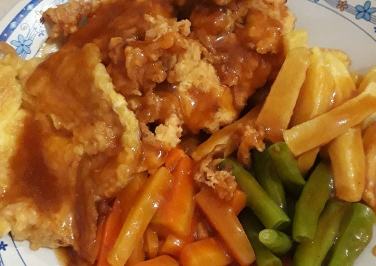 Krispy chicken steak,