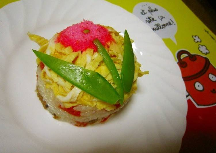 15 Minute Recipe of Award Winning Cute and Tiny Gomoku Sushi Cake For Cherry Blossom Viewing