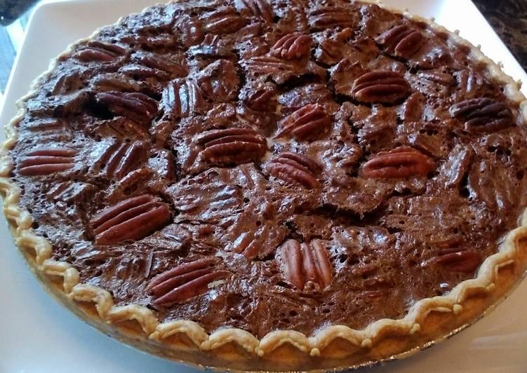 Deep Dish Chocolate Pecan Pie