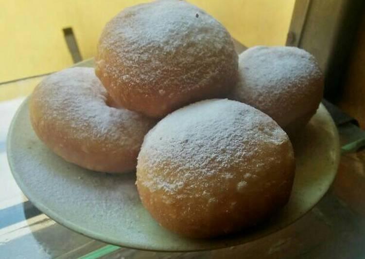 Bagaimana Cara Mengolah No knead eggless doughnut uenaaaak,menul n mudah Yang Yummy