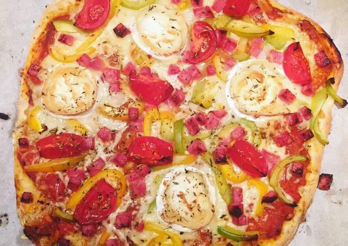 Pizza poivrons chèvre