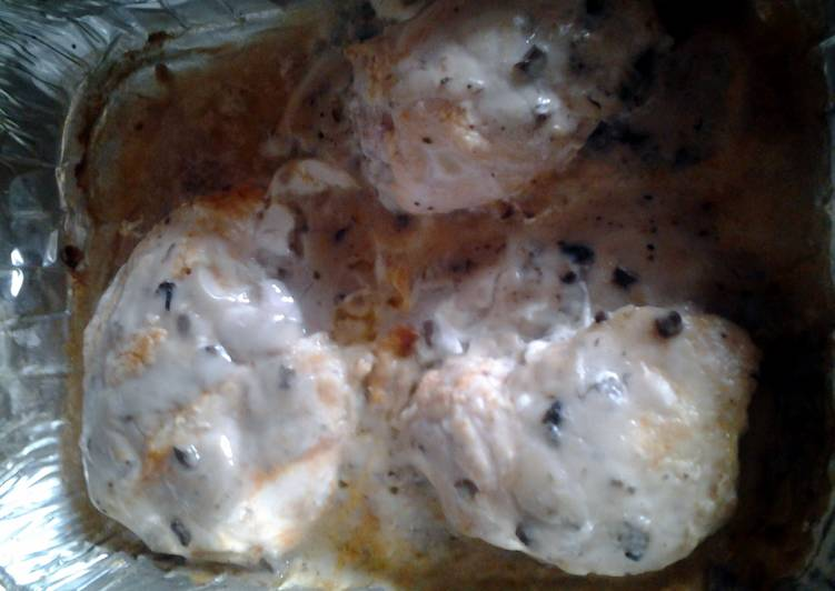 Creamy smothered baked chicken