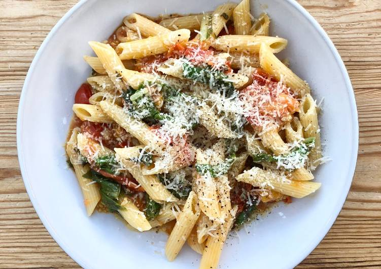 Recipe of Home grown tomato and herb pasta sauce @mycookbook Appetizing