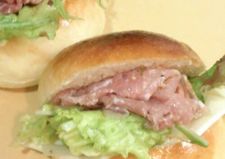 Recipe of Any-night-of-the-week Cured Ham, Cheese and Vegetable Sandwiches