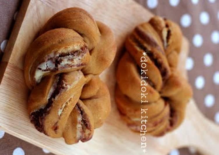 Use A Bread Machine ♡ Tiramisu Flavored Twisted Heart Rolls