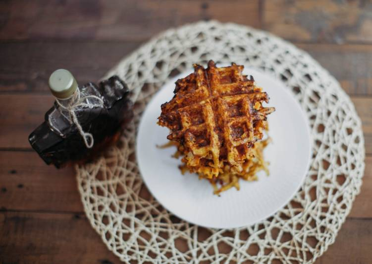 How to Prepare Tasty Sweet Potato Hash Brown Waffles