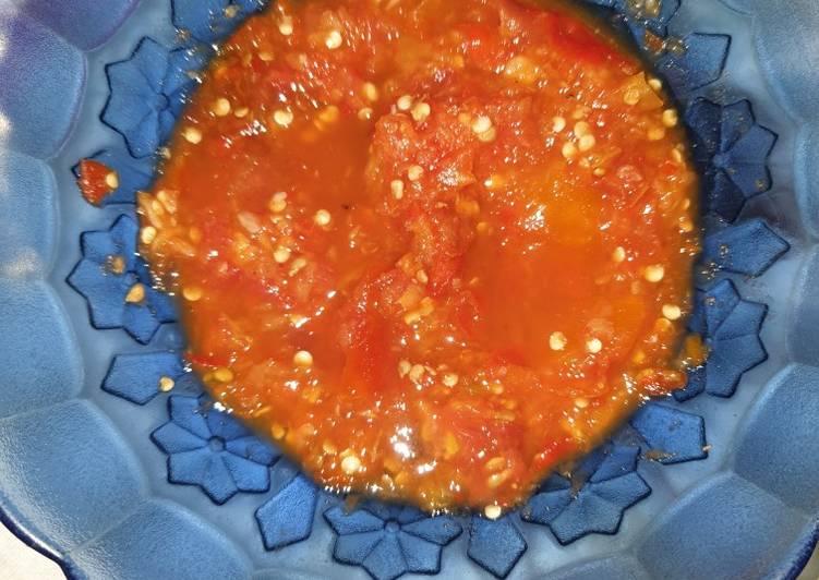 Sambel tomat temen nila tepung